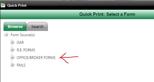 Broker Forms on FMLS