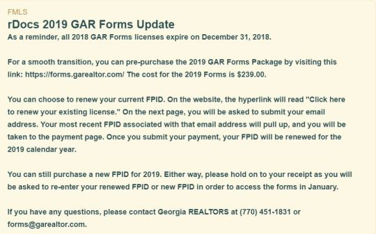 2019 GAR Form Access for Non-Realtors