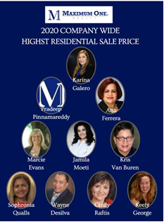 2021.3.21 2020Company Wide Highest Residential Sale Price
